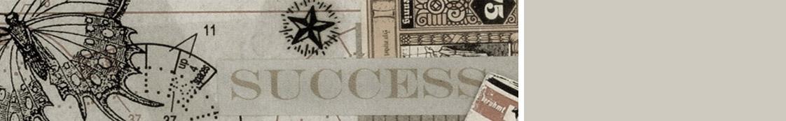 """Illustration mit Kompass, Schmetterling sowie Banknote und dem Schriftzug """"Success"""" zur Veranschaulichung des Themas Paartherapie"""